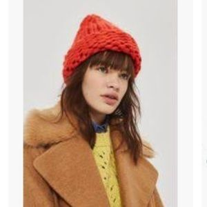 topshop hand knitted beanie